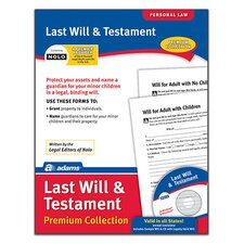 Last Will and Testament Forms and Instructions with Compact Disc (Set of 6)