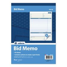 Bid Memo (Set of 12)