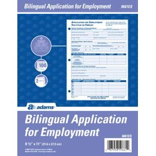 Bilingual Employee Application (Set of 12)