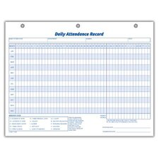 3 Hole Punched Daily Attendance Record (Set of 1500)