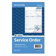 3 Part Carbonless Service Order Form (Set of 500)