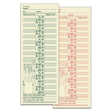 2 Sided Bi Weekly Time Card (Set of 1600)