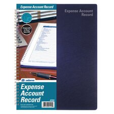 "8.50"" x 11"" Spiral Bound Expense Account Record Book"