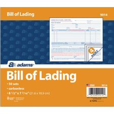 4 Part Bill of  Lading Short Form (Set of 250)