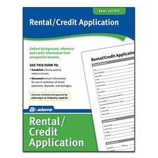 Rental/Credit Application Forms and Instruction (Set of 288)