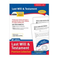 Last Will and Testament Forms and Instruction (Set of 288)