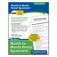 Month-To-Month Rental Agreement Forms and Instruction (Set of 288)