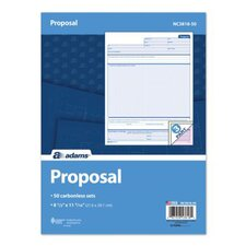 3 Part Carbonless Proposal Unit (Set of 400)