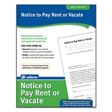 Notice To Pay Rent Or Quit Forms and Instruction (Set of 288)