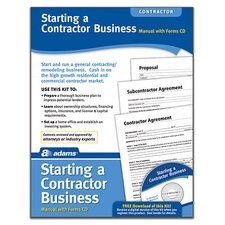 Starting A Contractor Business Forms and Instruction (Set of 96)