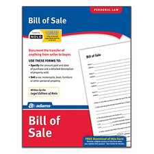 Bill of Sale Forms and Instruction (Set of 288)