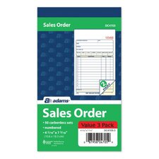 "4.19"" x 7.19"" 2 Part Carbonless Sales Order Book (Set of 24)"