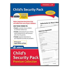 Child's Security Pack Premium Collection Forms and Instruction (Set of 6)