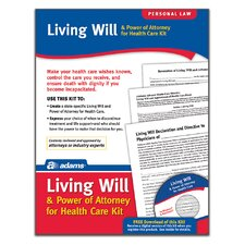 Living Will and POA For Healthcare Forms and Instructions Kit (Set of 96)