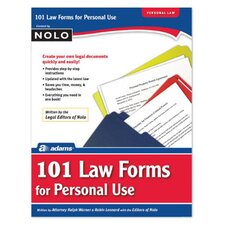 101 Law Forms For Personal Use Book (Set of 6)