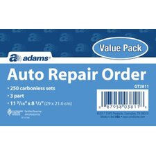 3 Part Carbonless Garage Repair Order Form (Set of 500)