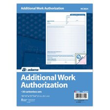3 Part Carbonless Additional Work Authorization (Set of 400)