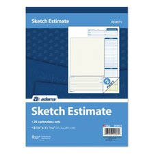 2 Part Carbonless Sketch Estimate Book (Set of 12)