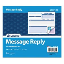 Carbonless Message Reply Unit (Set of 400)