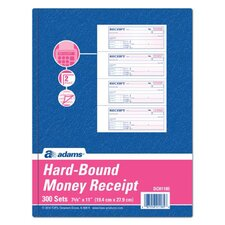 2 Part Carbon Hardbound Receipt Book (Set of 5)