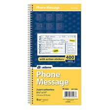 <strong>Adams Business Forms</strong> 2 Part Carbonless Phone Message Book (Set of 30)