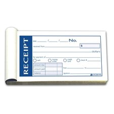 "Money/Rent Receipt Bk,Tape Bound,2-Part,2-3/4""x5-3/8"",50/BK"