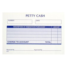 "Receipt Pad, Petty Cash, 5-1/2""x2-5/6"""