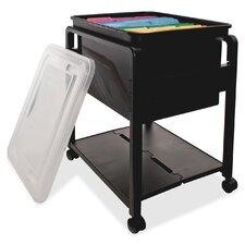 Folding Mobile File Cart