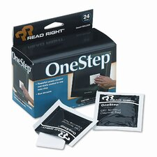 Read Right Onestep Screen Cleaner, 5 X 5, 24/Box