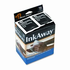 Ink Away Hand Cleaning Pads, Cloth, White, 72/box