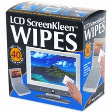 Read Right Screenkleen Alcohol-Free Wet Wipes, Cloth, 5 X 5, 40/Box