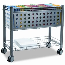 Vertiflex Smartworx File Cart, 1-Shelf, 28-1/4W X 13-3/4D X 27-3/8H