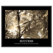 Success Framed Sepia Tone Motivational Print, 30 X 24