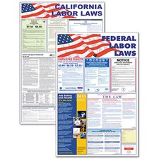 State/Federal Labor Law/Legally Required Multi-Colored Poster, 24w x 30h
