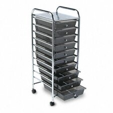 Portable Drawer Organizer, 15-1/4W X 13D X 37-5/8H