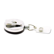 "Premier Heavy-Duty Retractable Id Card Reel, 24"" Extension, 12/Box"