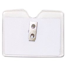 Security Id Badge Holder, Horizontal, 3 1/2W X 2 1/2H, 50/Box
