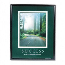 """Success"" Framed Sepia-Tone Motivational Print, 25-1/2w x 31-1/2h"