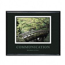"""Communication"" Framed Motivational Print, 31-1/2w x 25-1/2h"