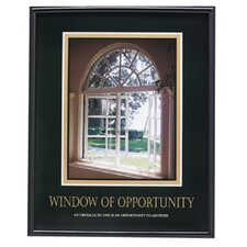 "Motivational Poster ""Window Of Opportunity"", 24""x30"", Black Frame"