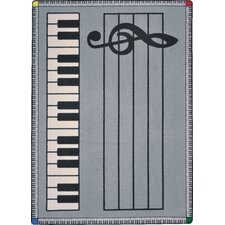 Play Along© Gray with Keys Kids Rug