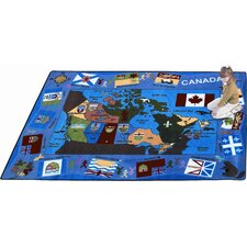 <strong>Joy Carpets</strong> Educational Flags of Canada Kids Rug