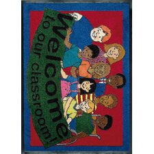 Educational Welcome to Our Classroom Area Rug