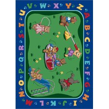 Educational Teddy Bear Playground Kids Rug
