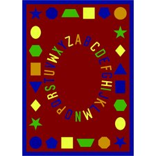 Educational First Lessons Red Area Rug