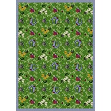 <strong>Joy Carpets</strong> Nature Green Flower Gardens Novelty Rug