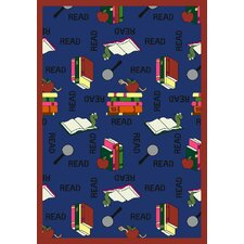 Educational Bookworm Noterbook Kids Rug