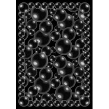 Whimsy Essentials Bubbles Black Area Rug