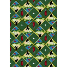 Gaming and Entertainment Games People Play Spike N' Tee Golf Novelty Rug