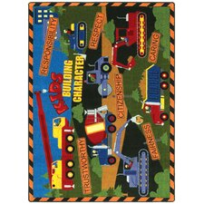 Educational Essentials Building Character Kids Rug